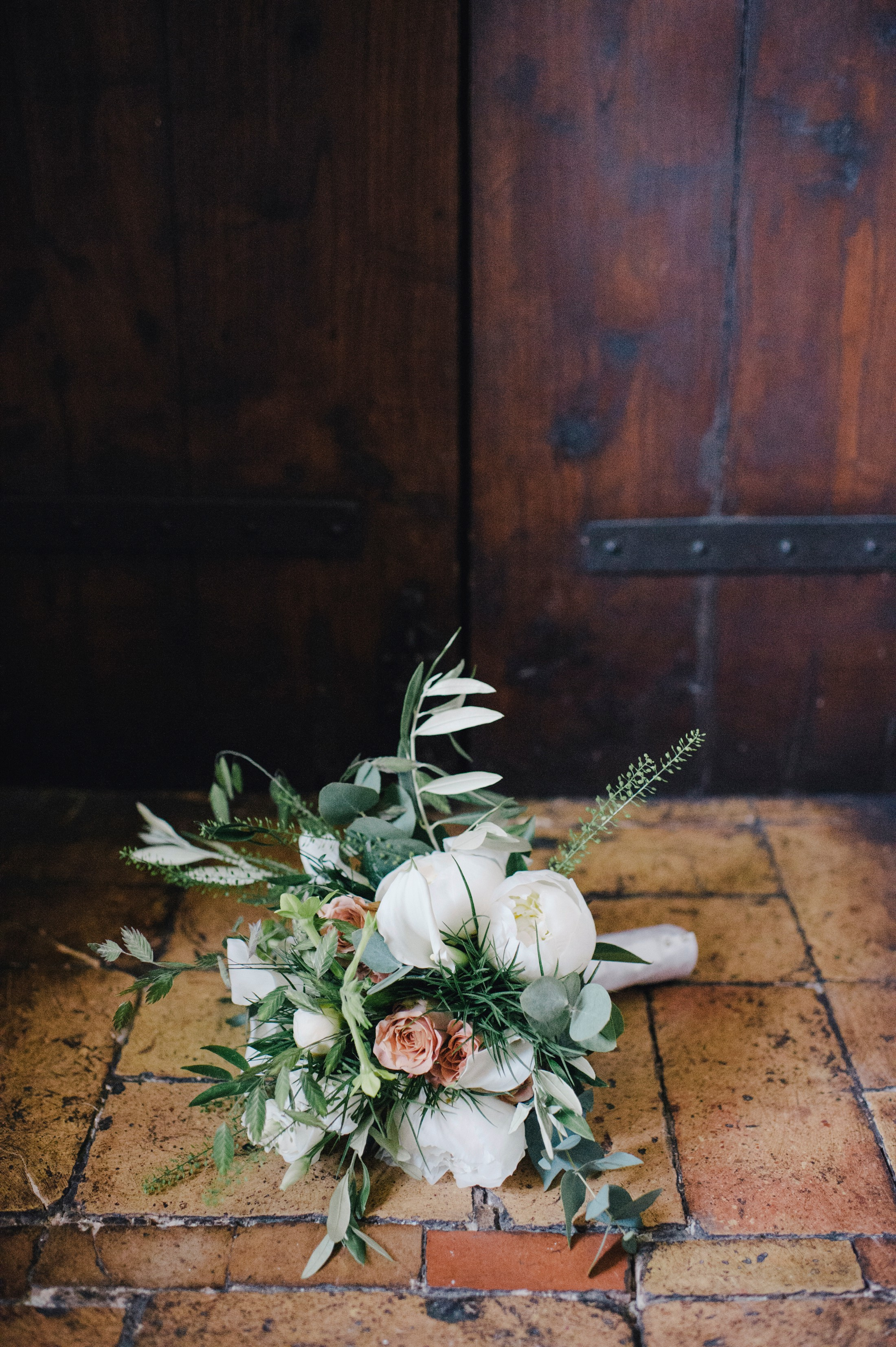 wedding bouquet on the floor