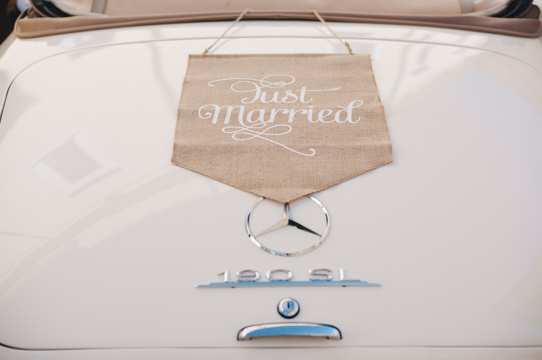 wedding car's detail