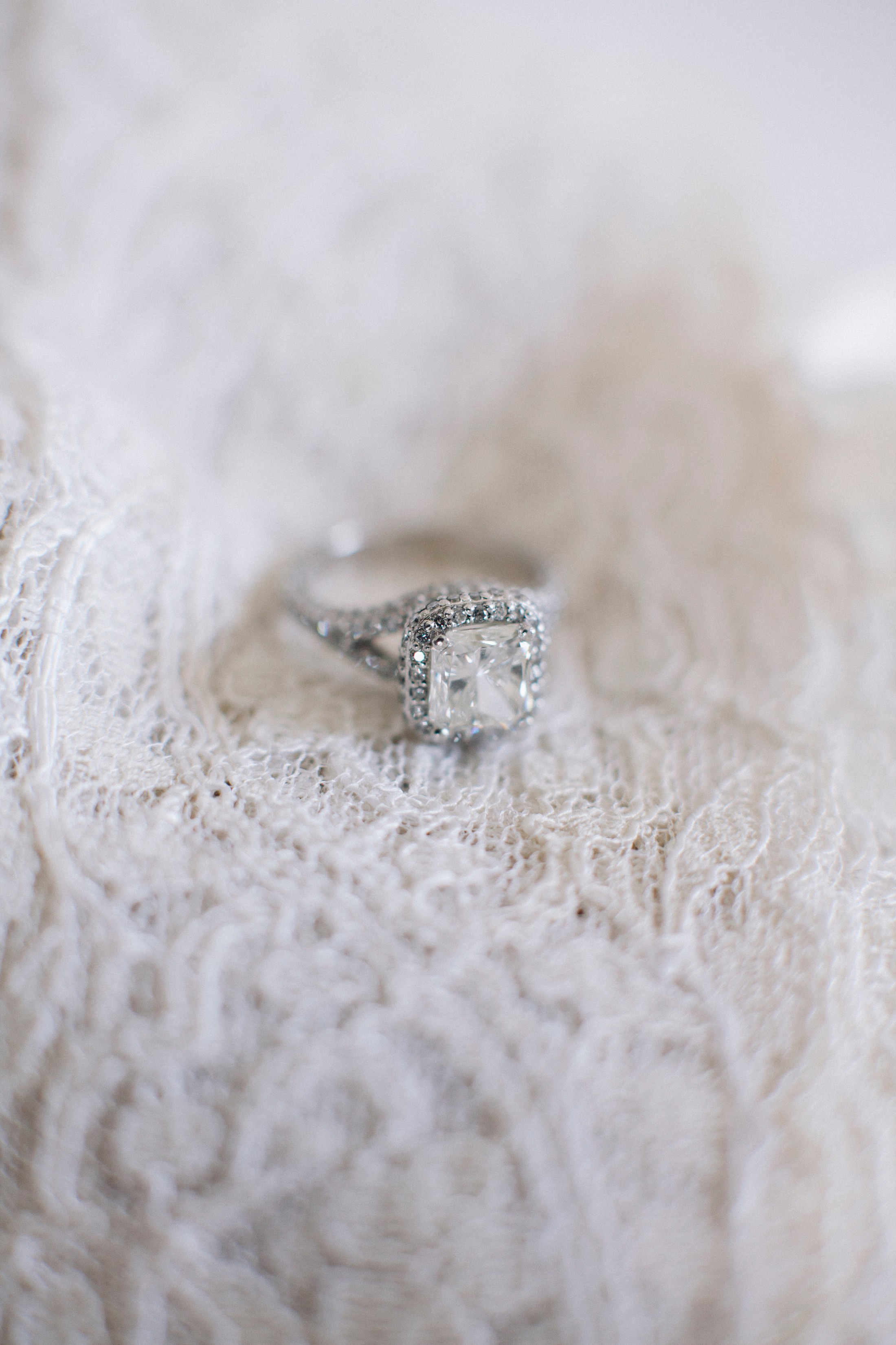 bride's engagement ring