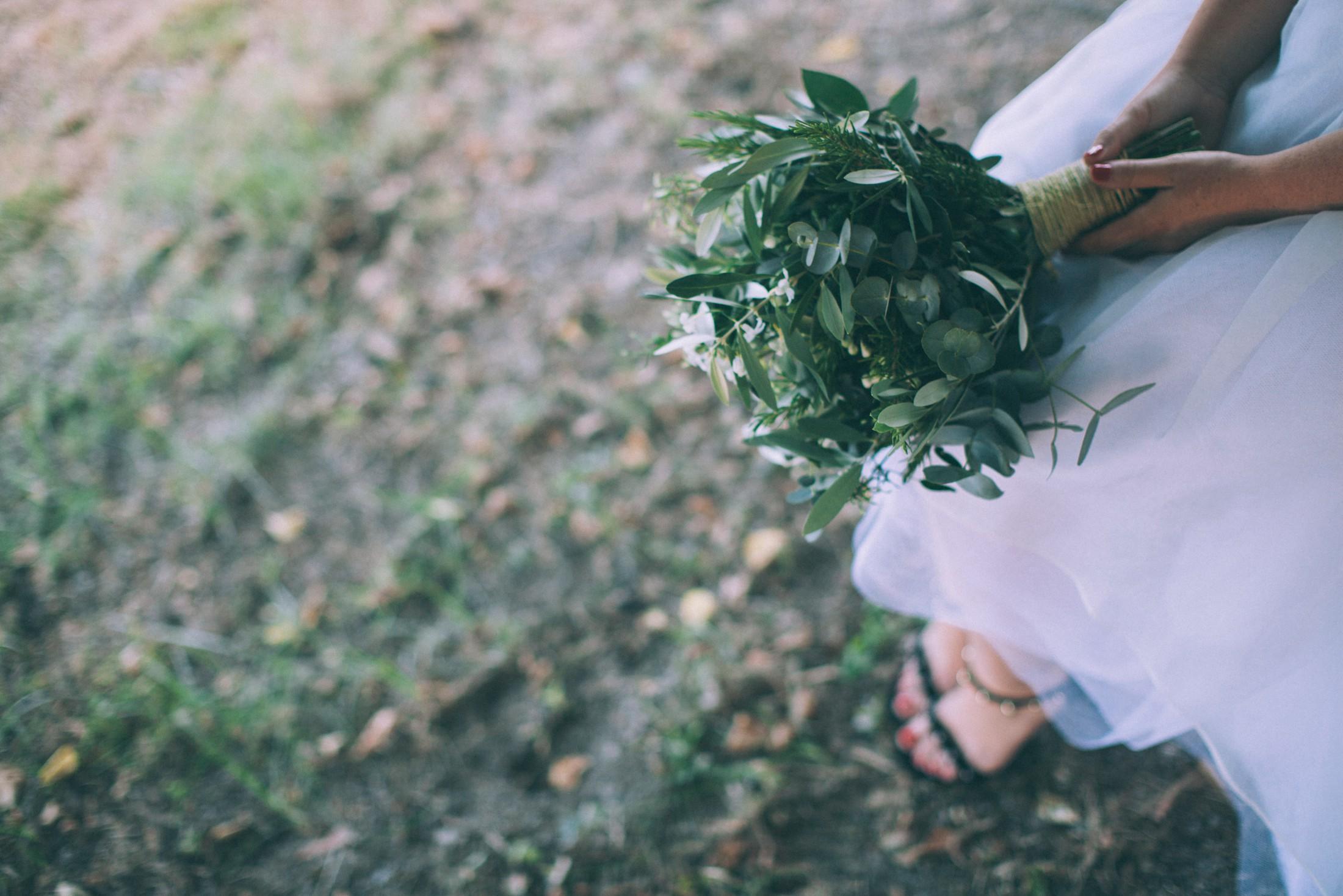 wedding eucalyptus bouquet
