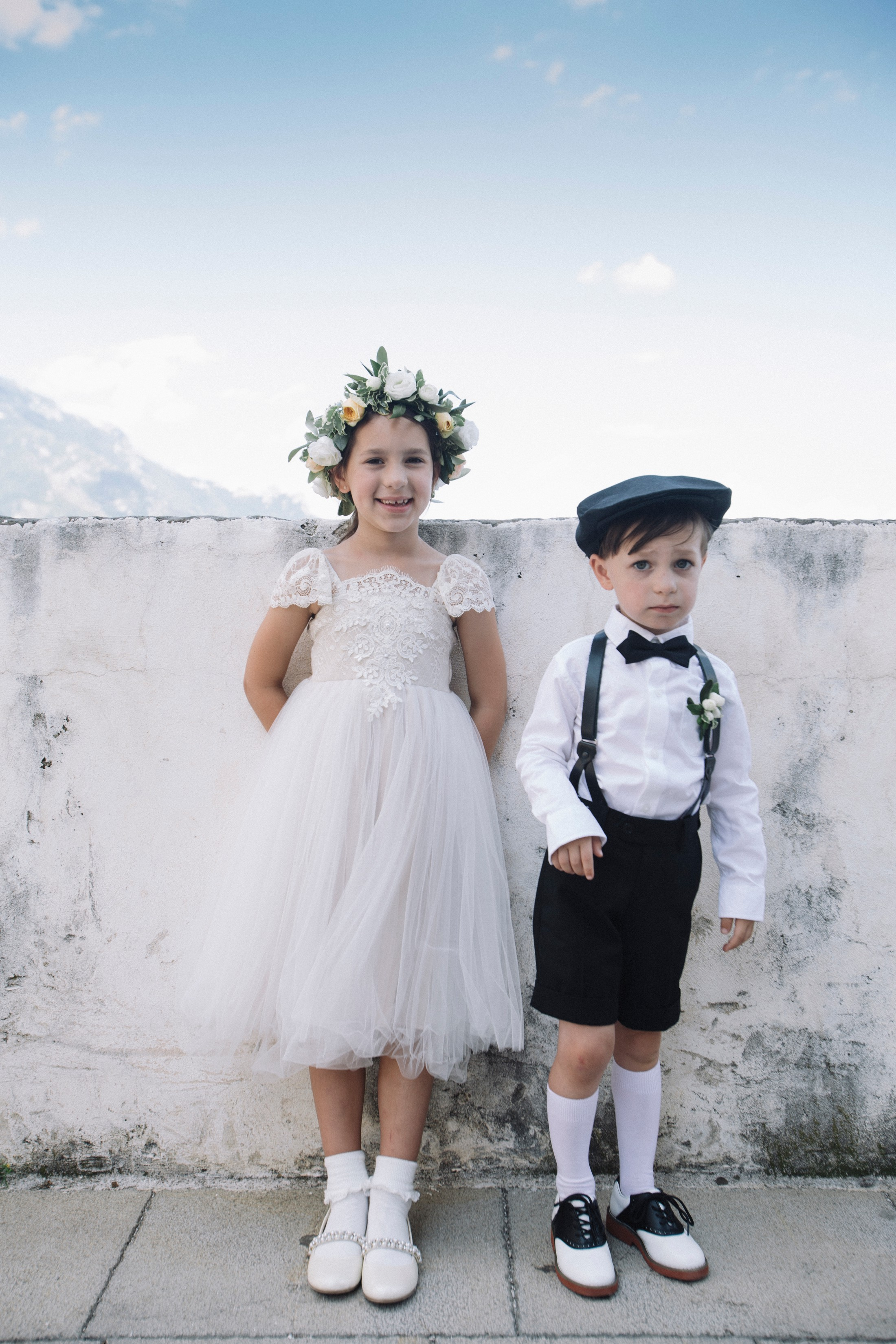 flower girl and boy