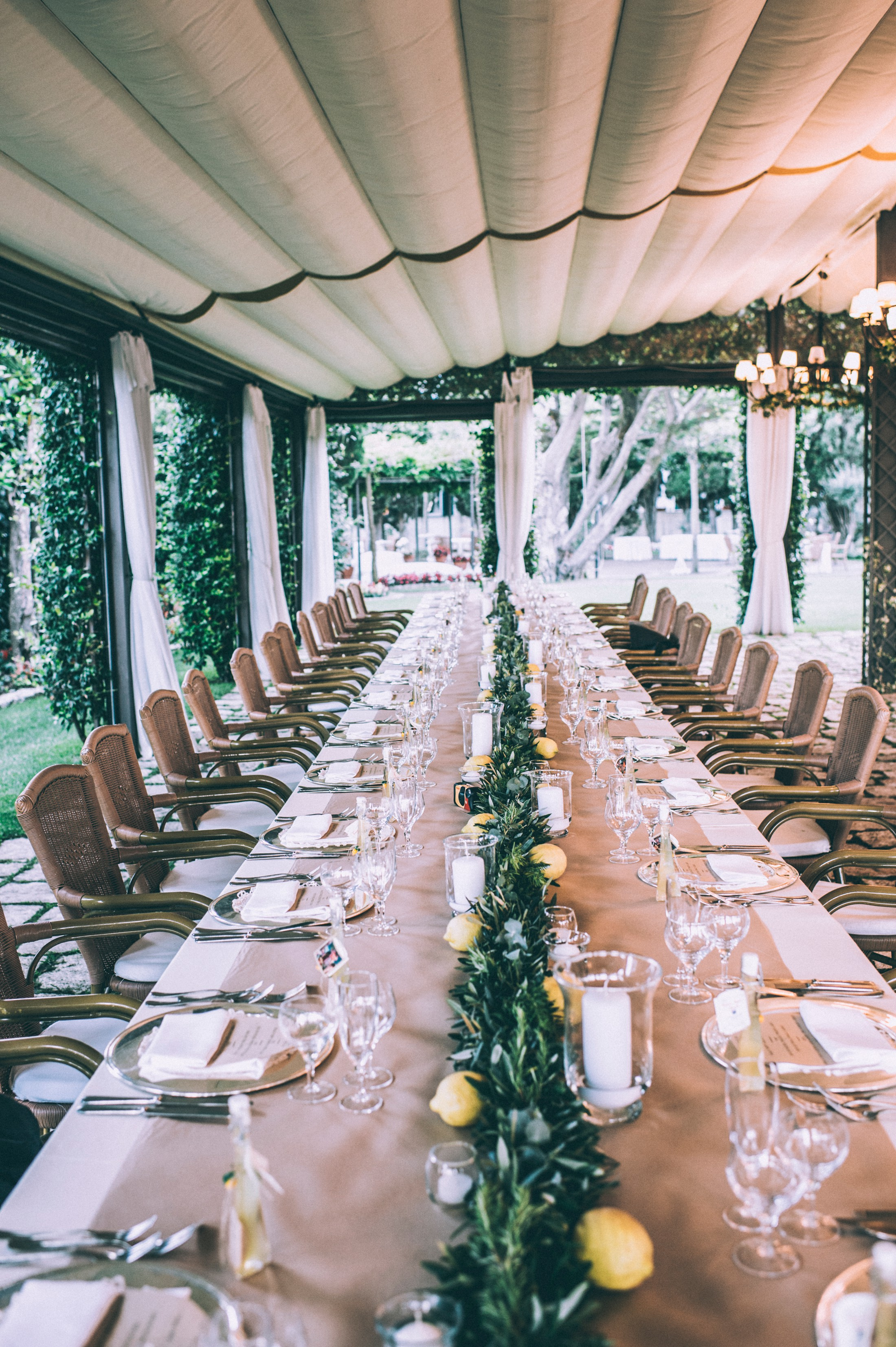 wedding table at villa eva, ravello