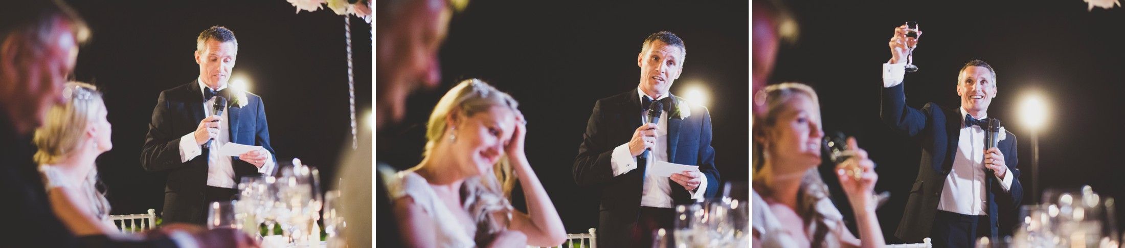 collage groom during his speech