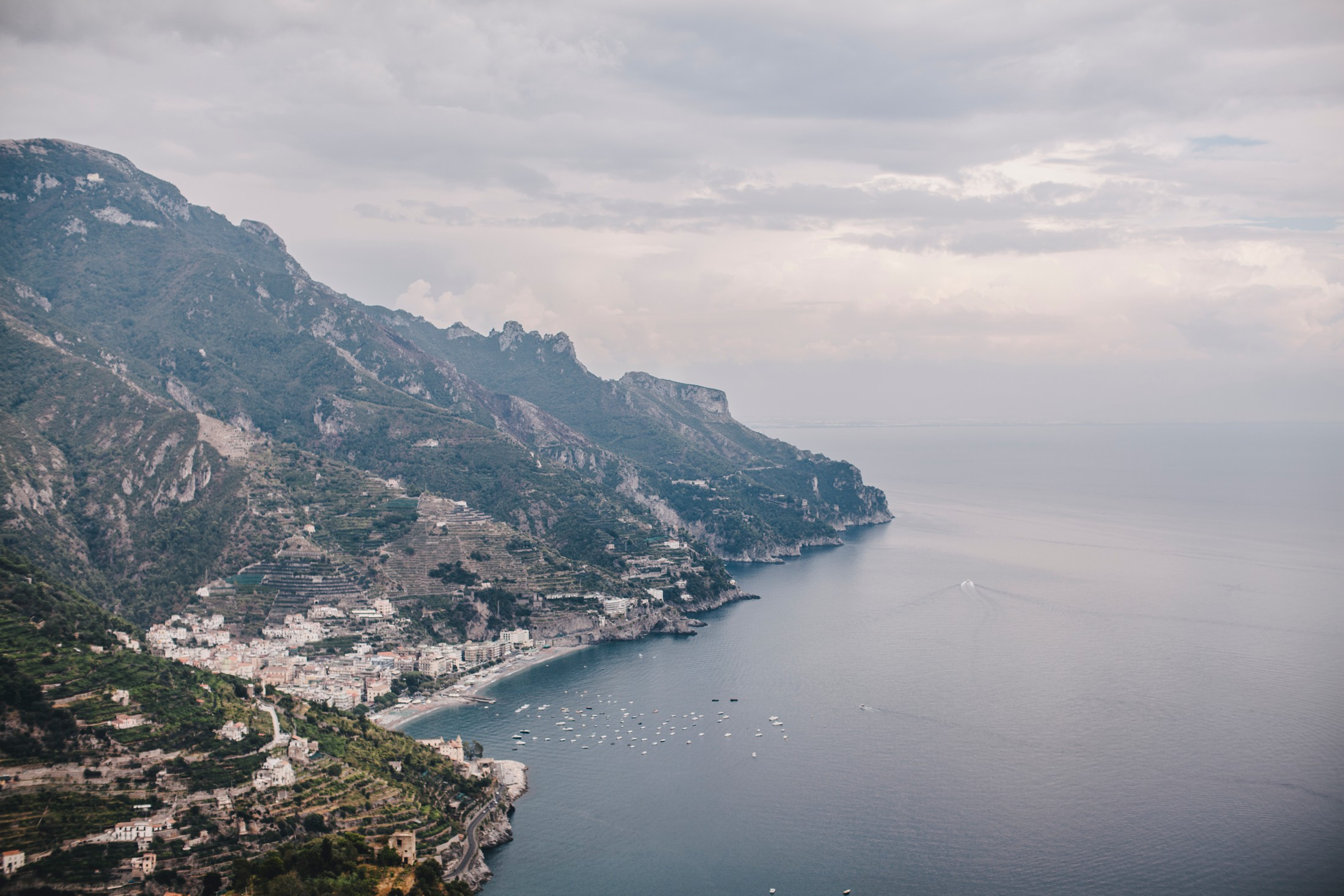 landscape amalfi coast view from ravello