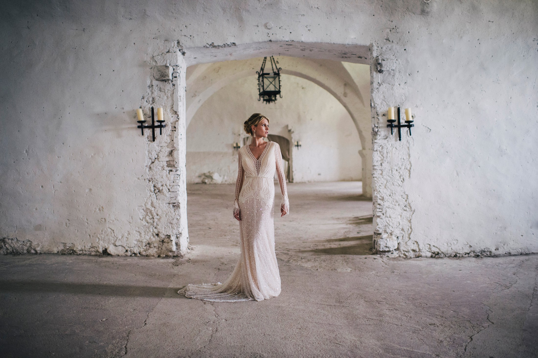 bride's portrait in bracciano castle
