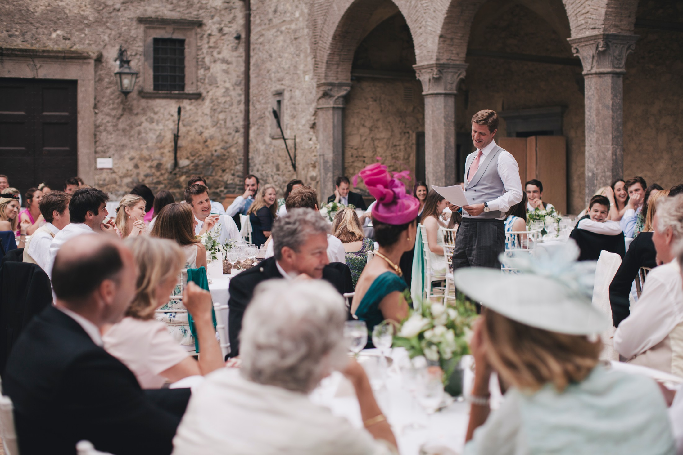 brest man during his speech wedding in bracciano castle