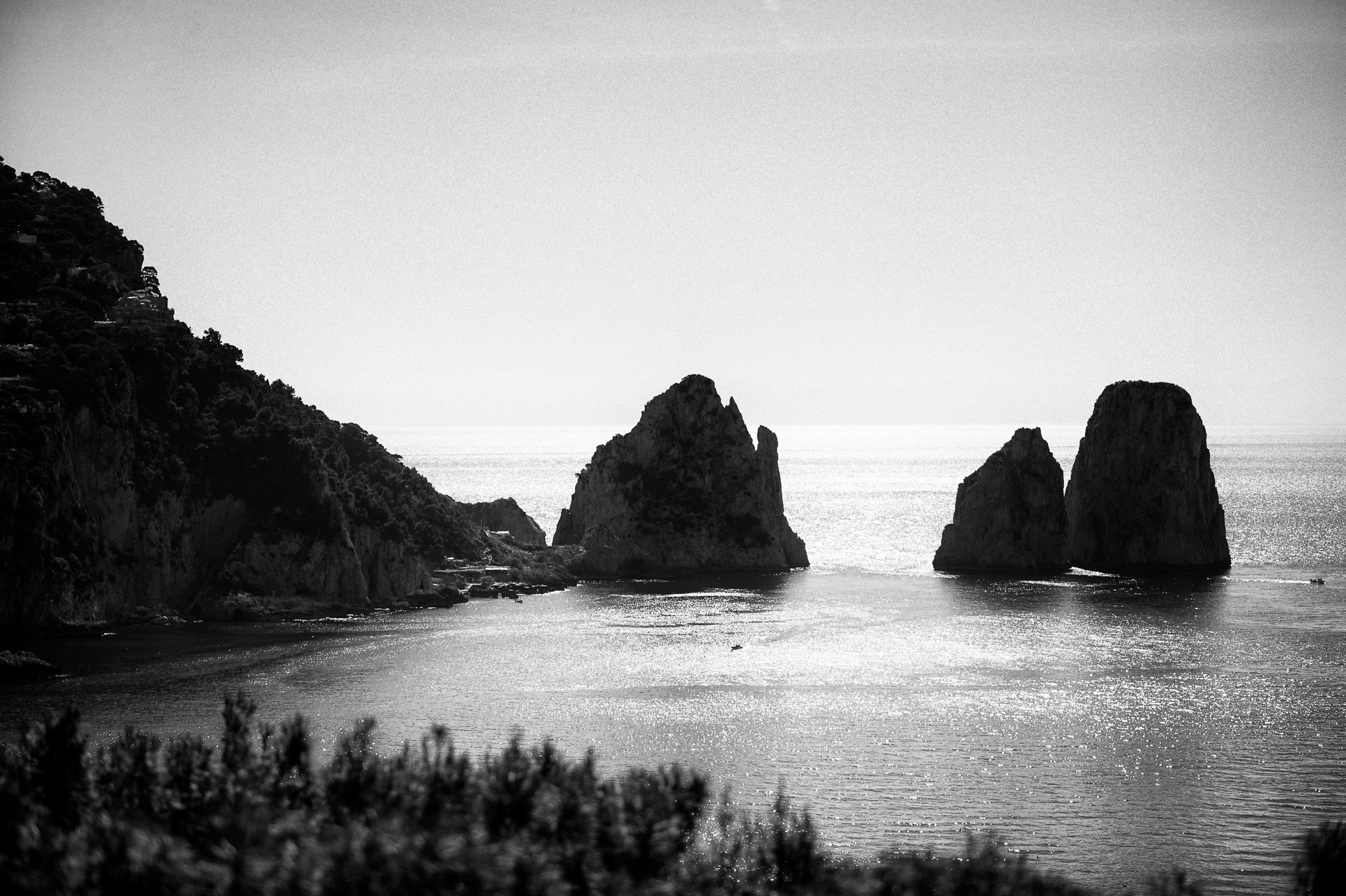 landscape capri in black and white