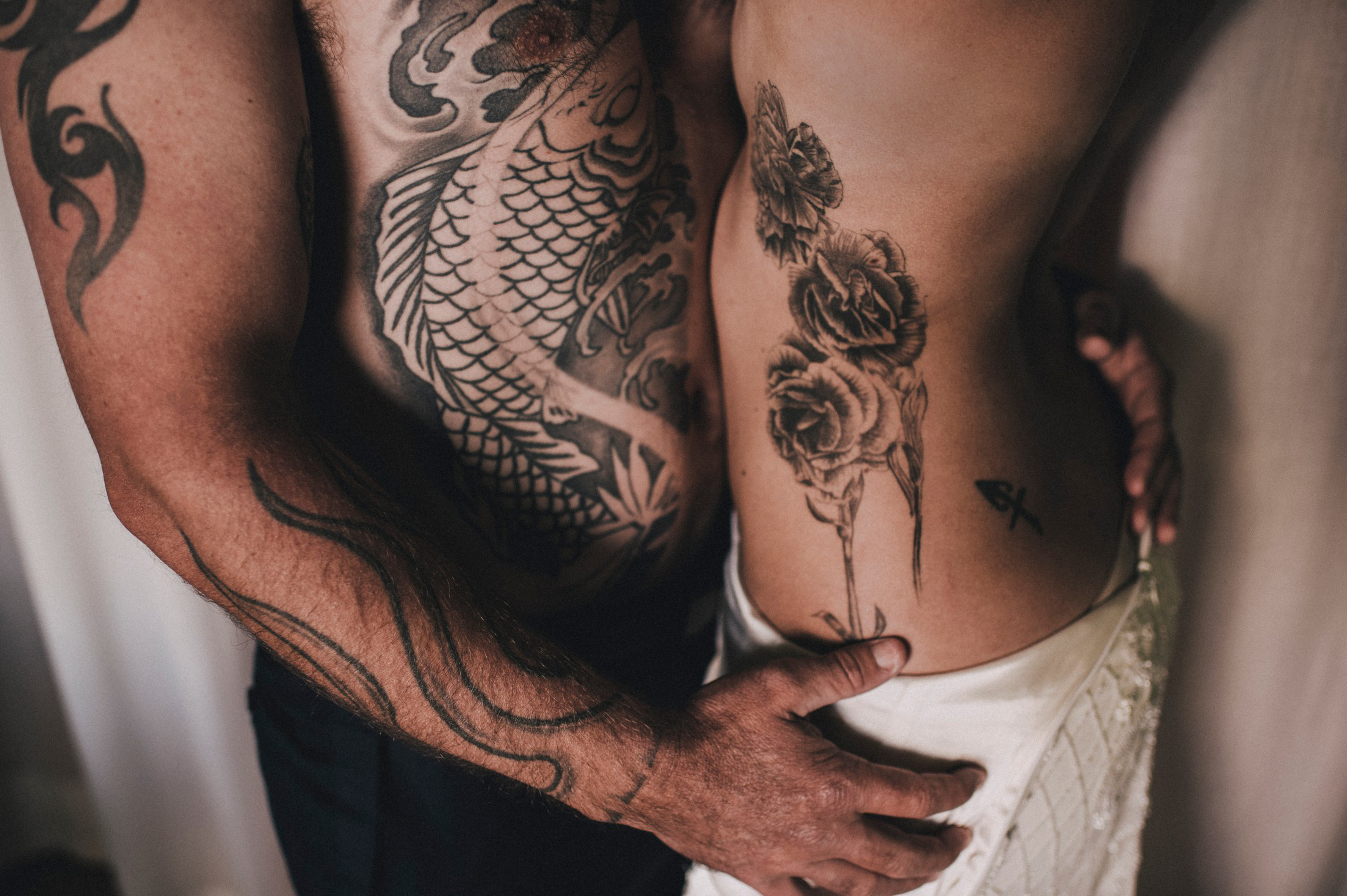 bride and groom's tattoo