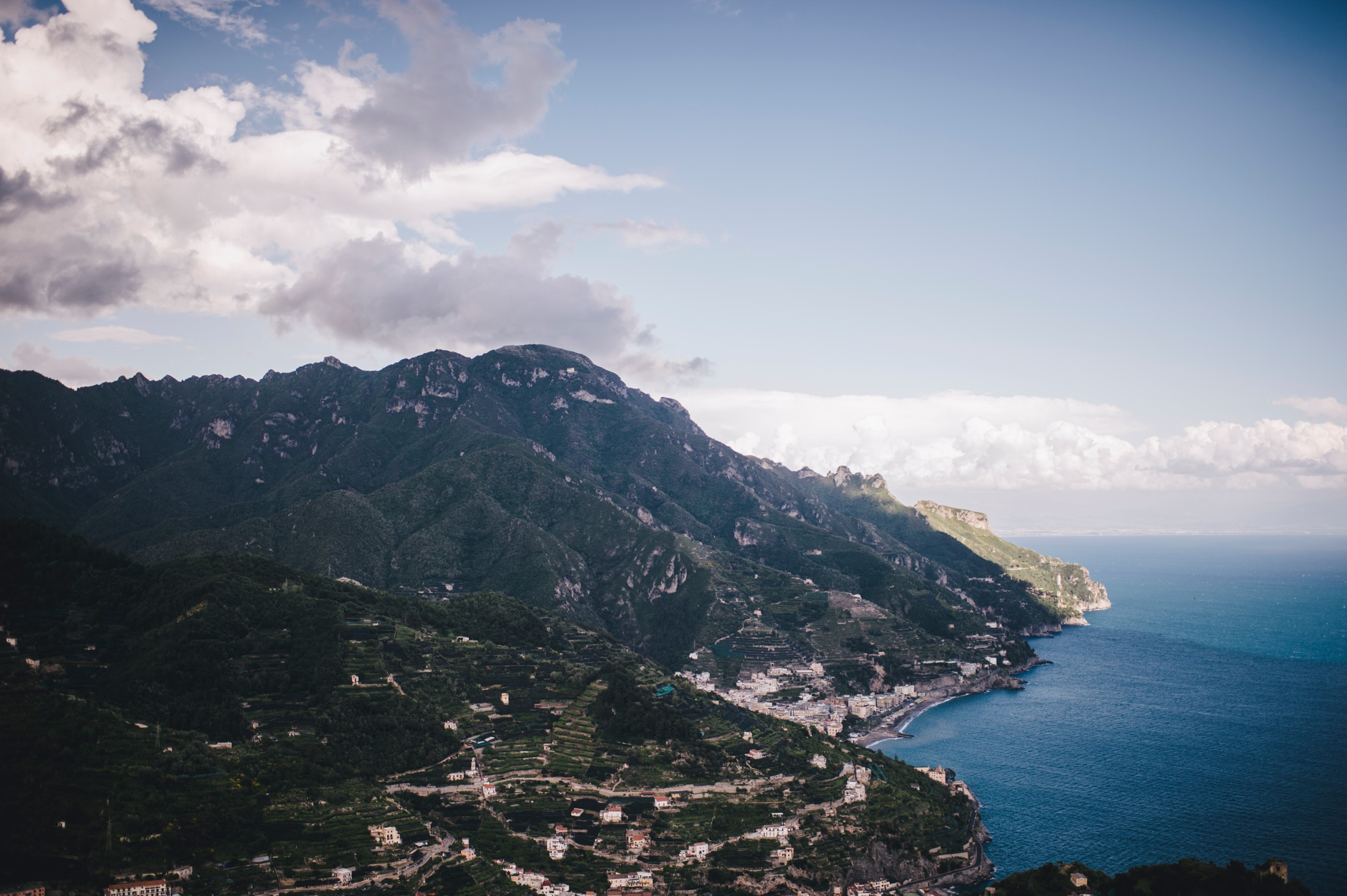 landscape from ravello amalfi coast