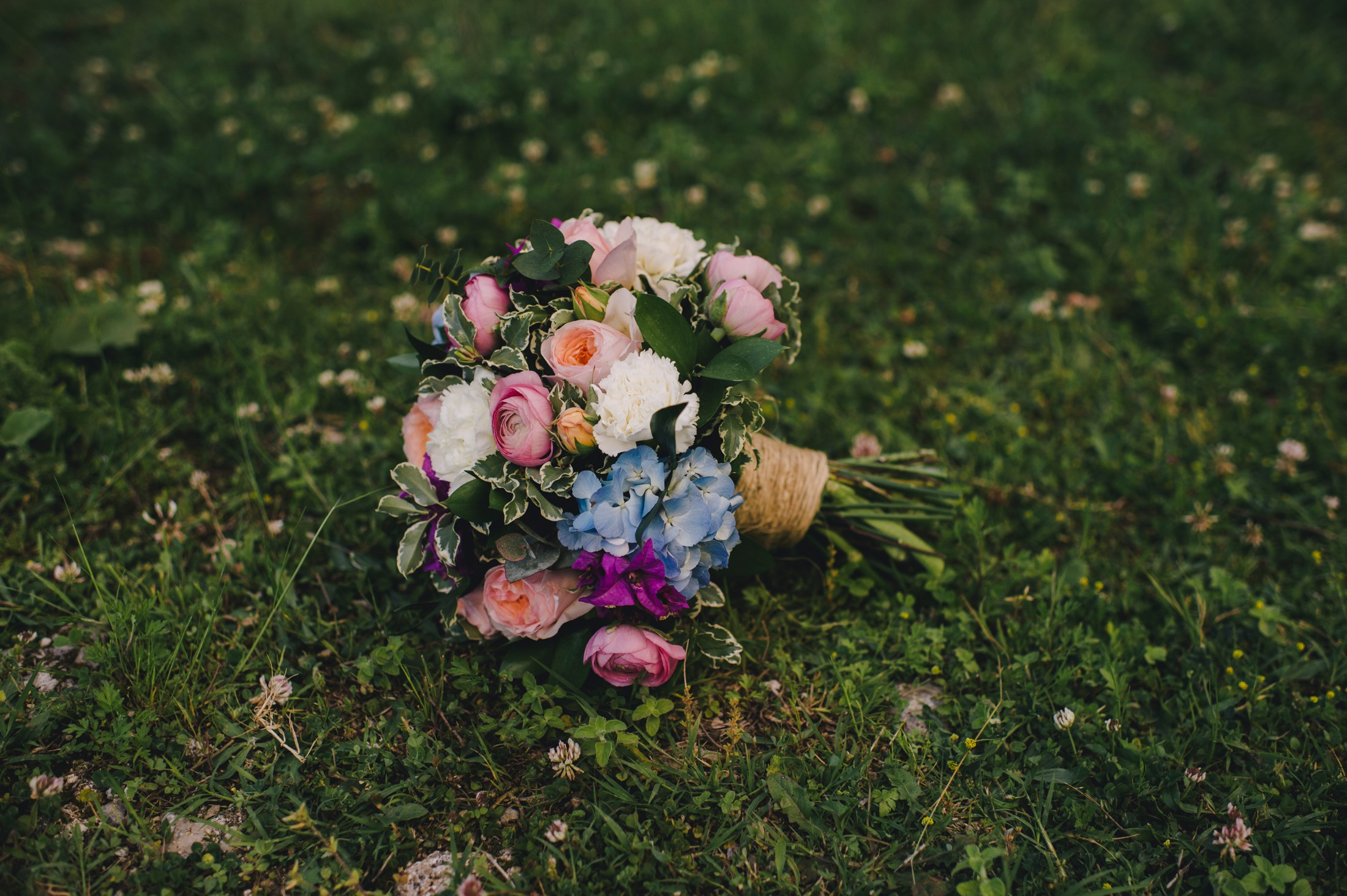 wedding multicolored bouquet