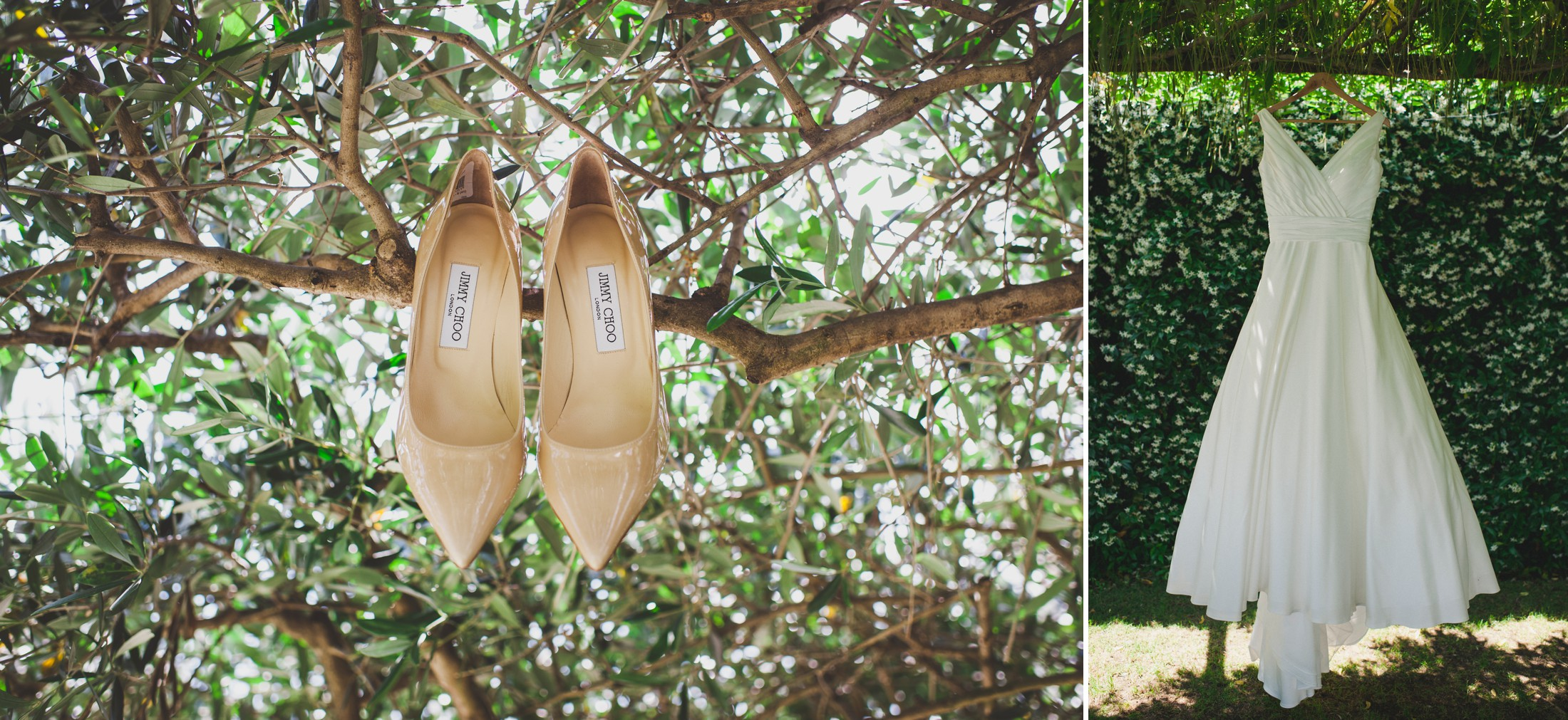 bride's wedding shoes ravello
