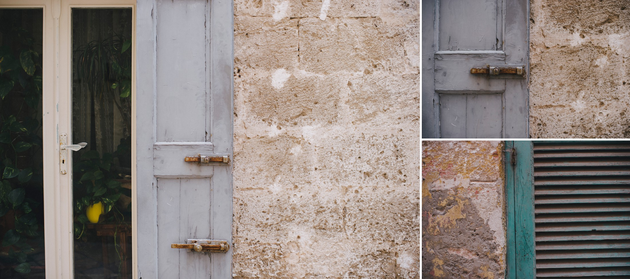 gray and brown door in ostuni