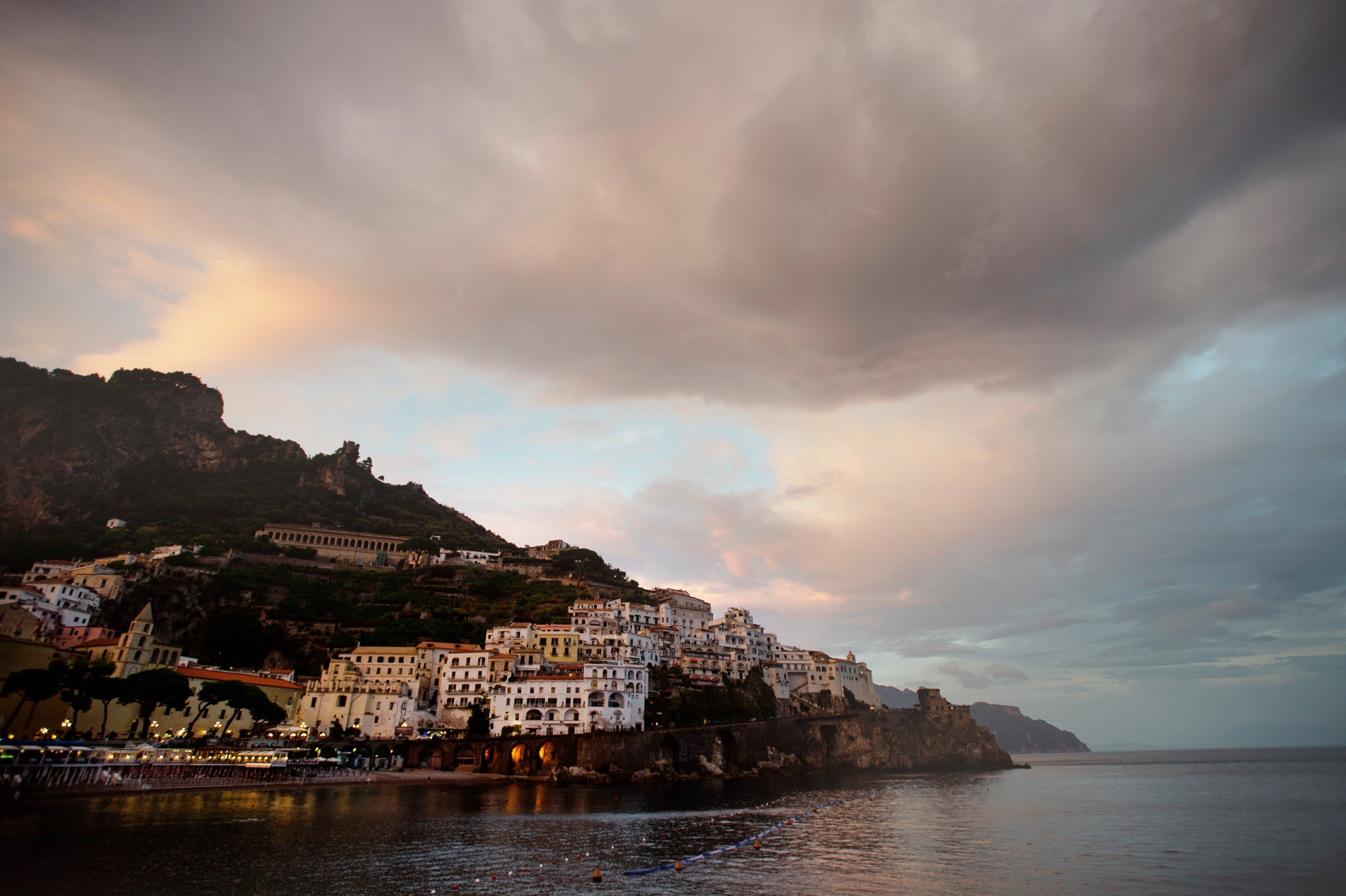 landscape from the amalfi coast after the rain