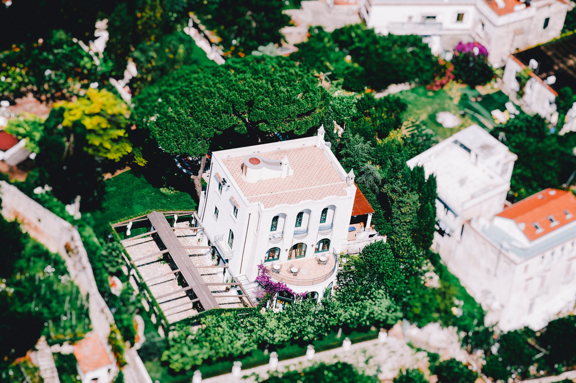 villa eva from high