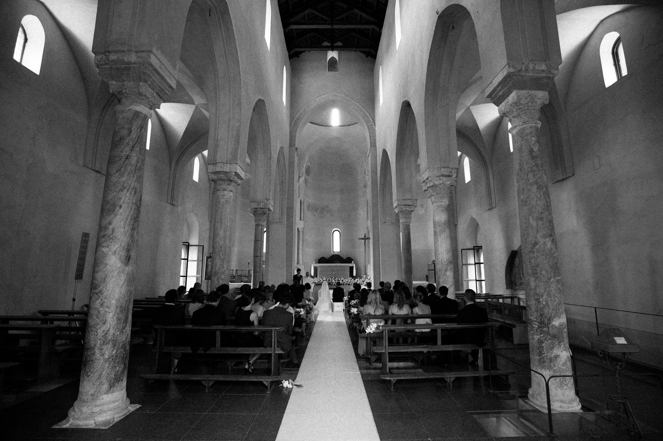 inside the church during the ceremony