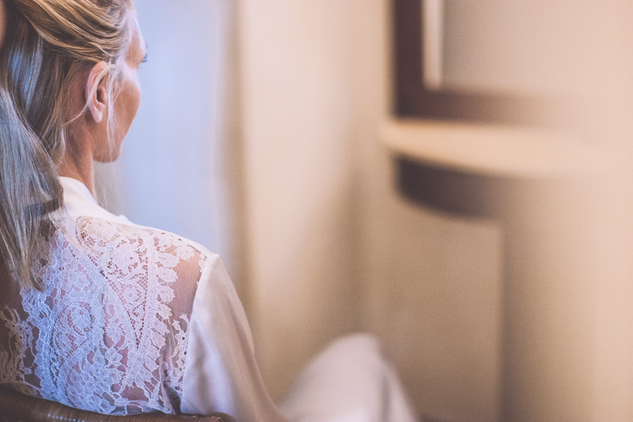 bride's portrait during the preparation