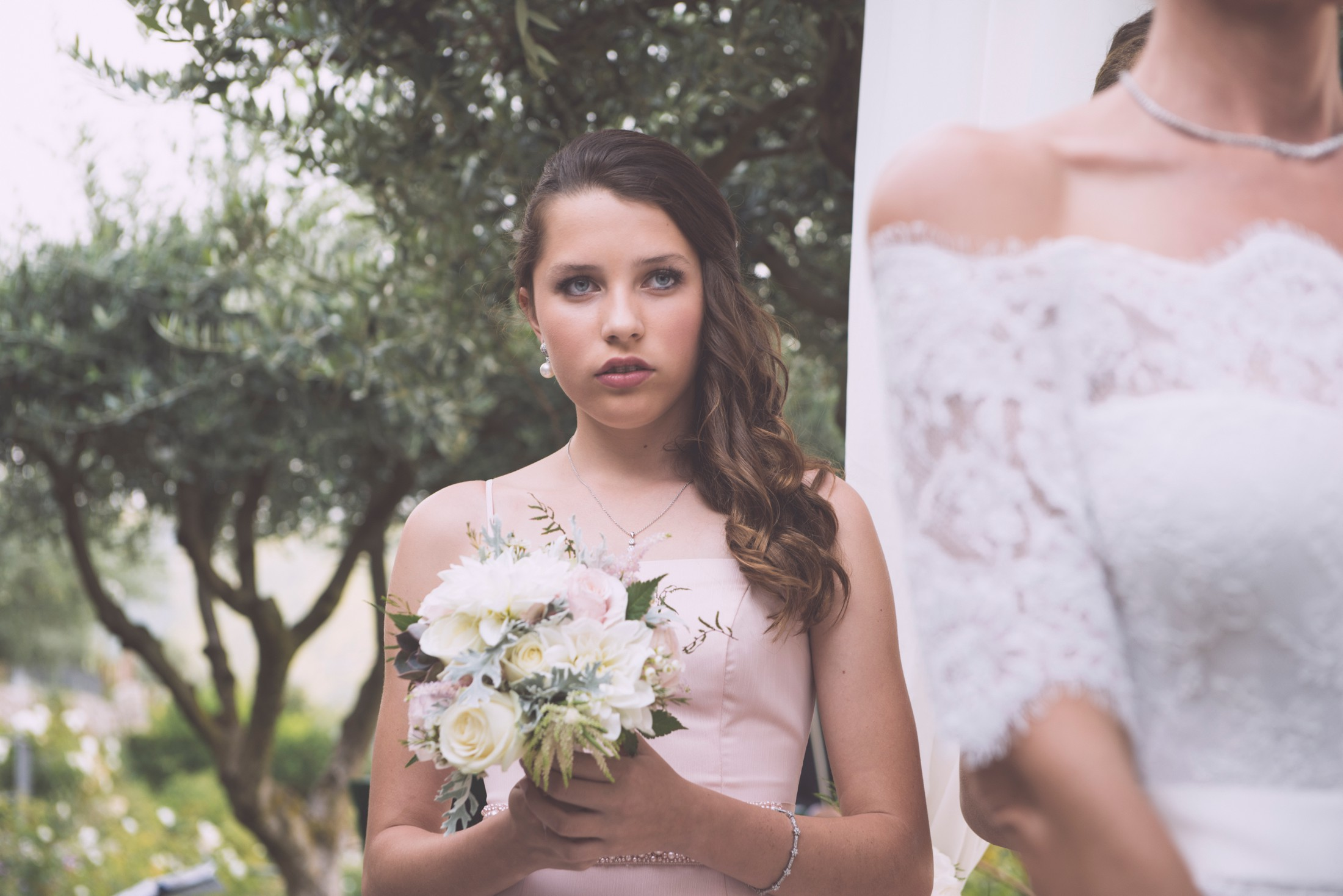 bridesmaids portrait during the wedding ceremony at hotel caruso ravello