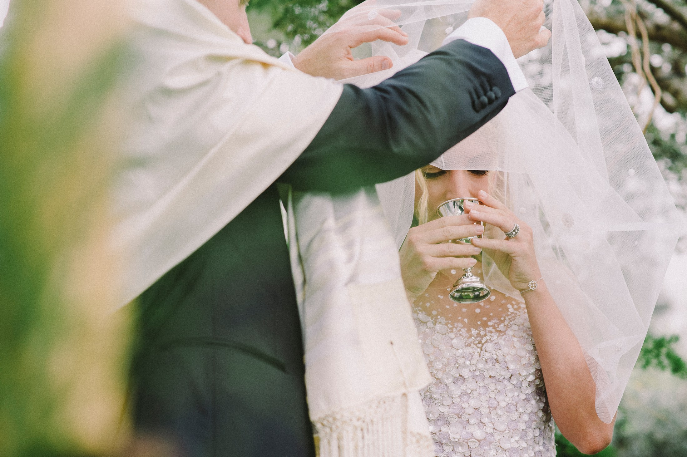 the bride drinks the holy wine