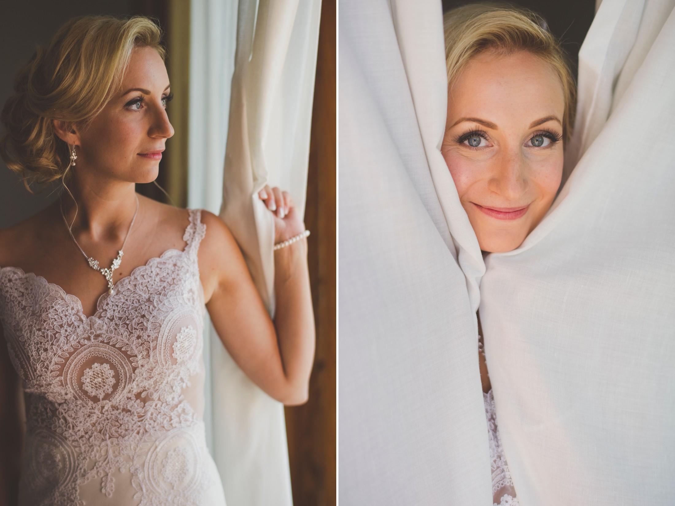 collage bride's portrait