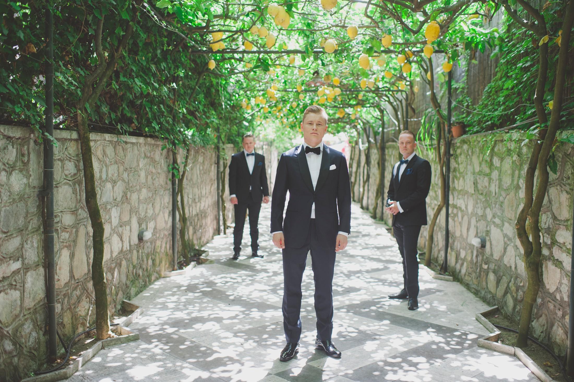 groom with his best men