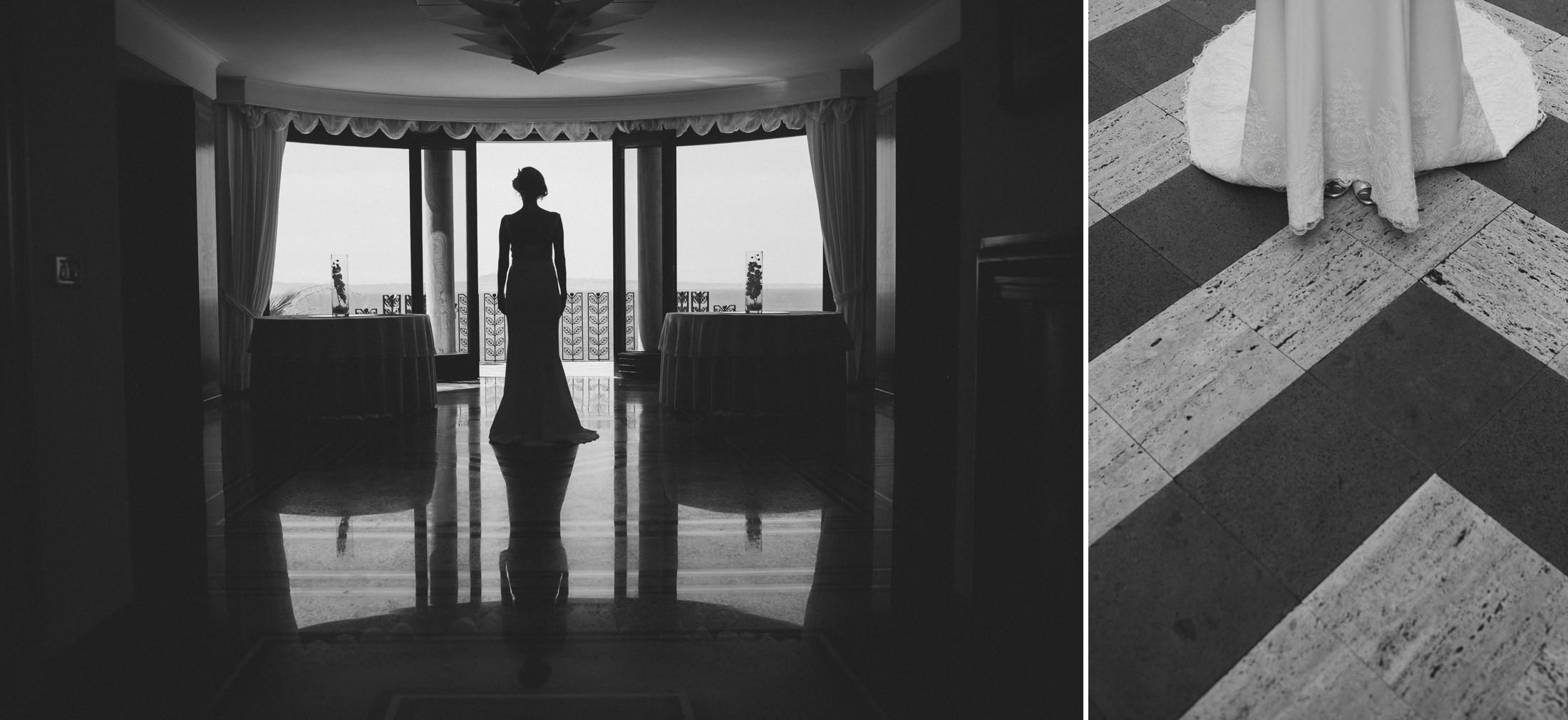 bride's portrait black and white