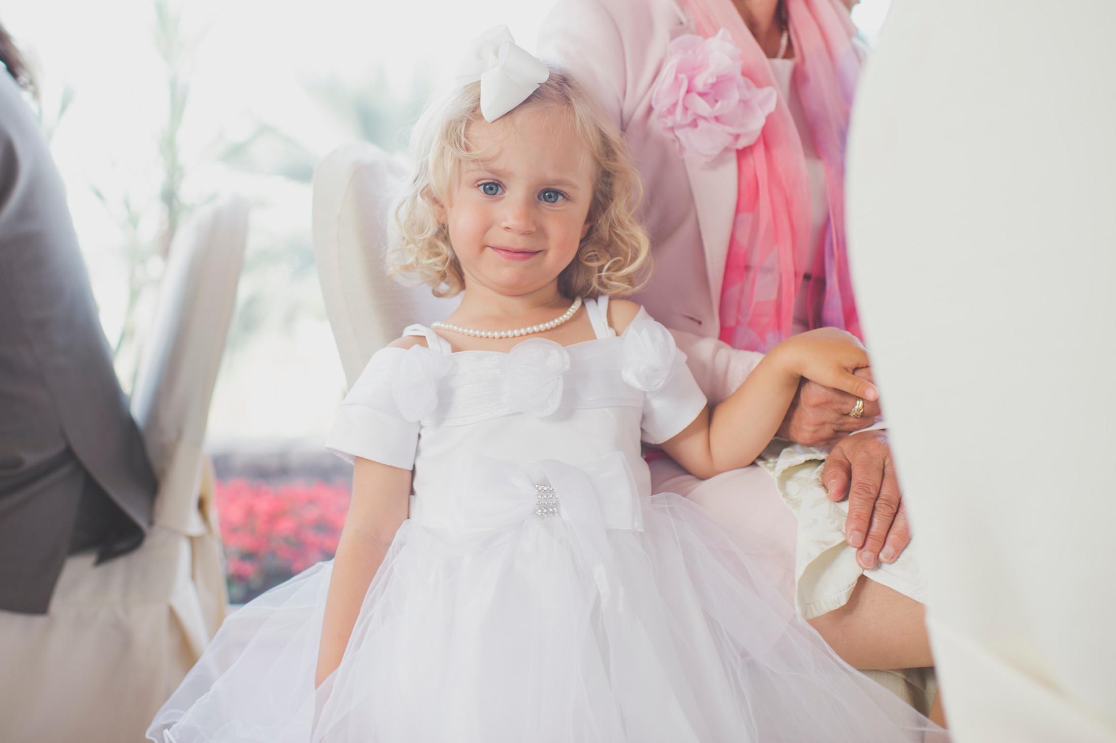 bride's daughter portrait