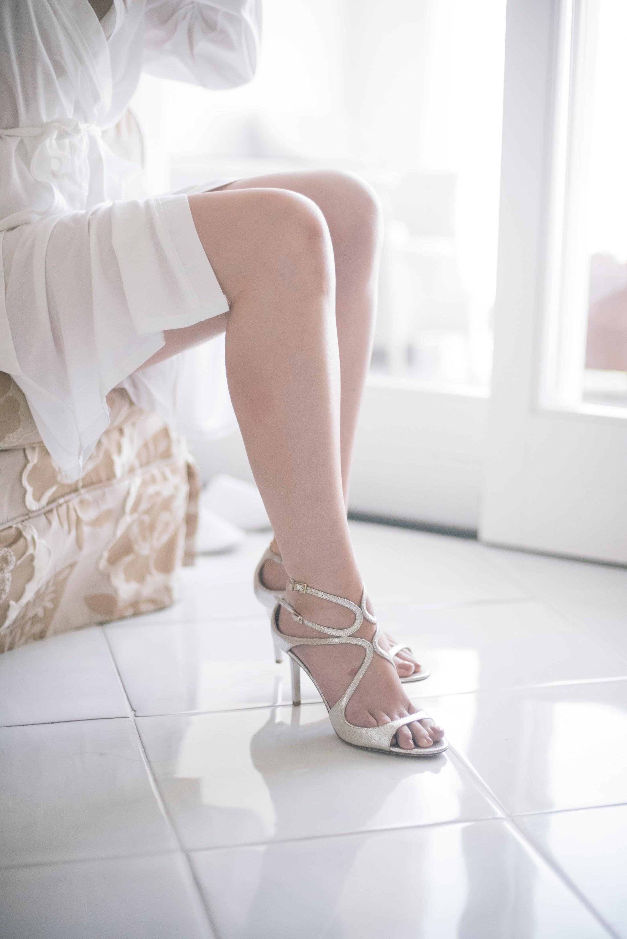 bride's feet