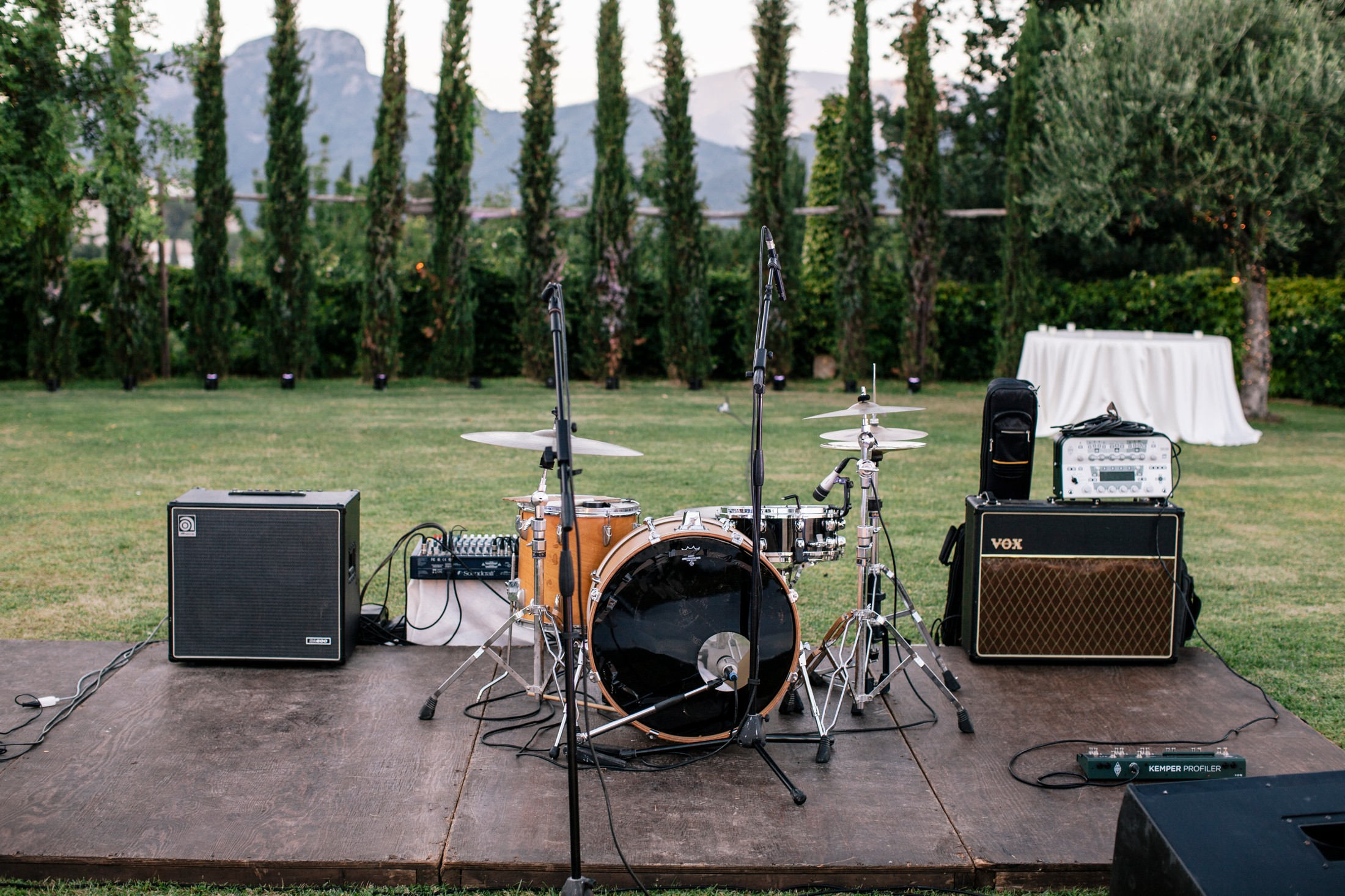 wedding music band instruments at villa cimbrone ravello