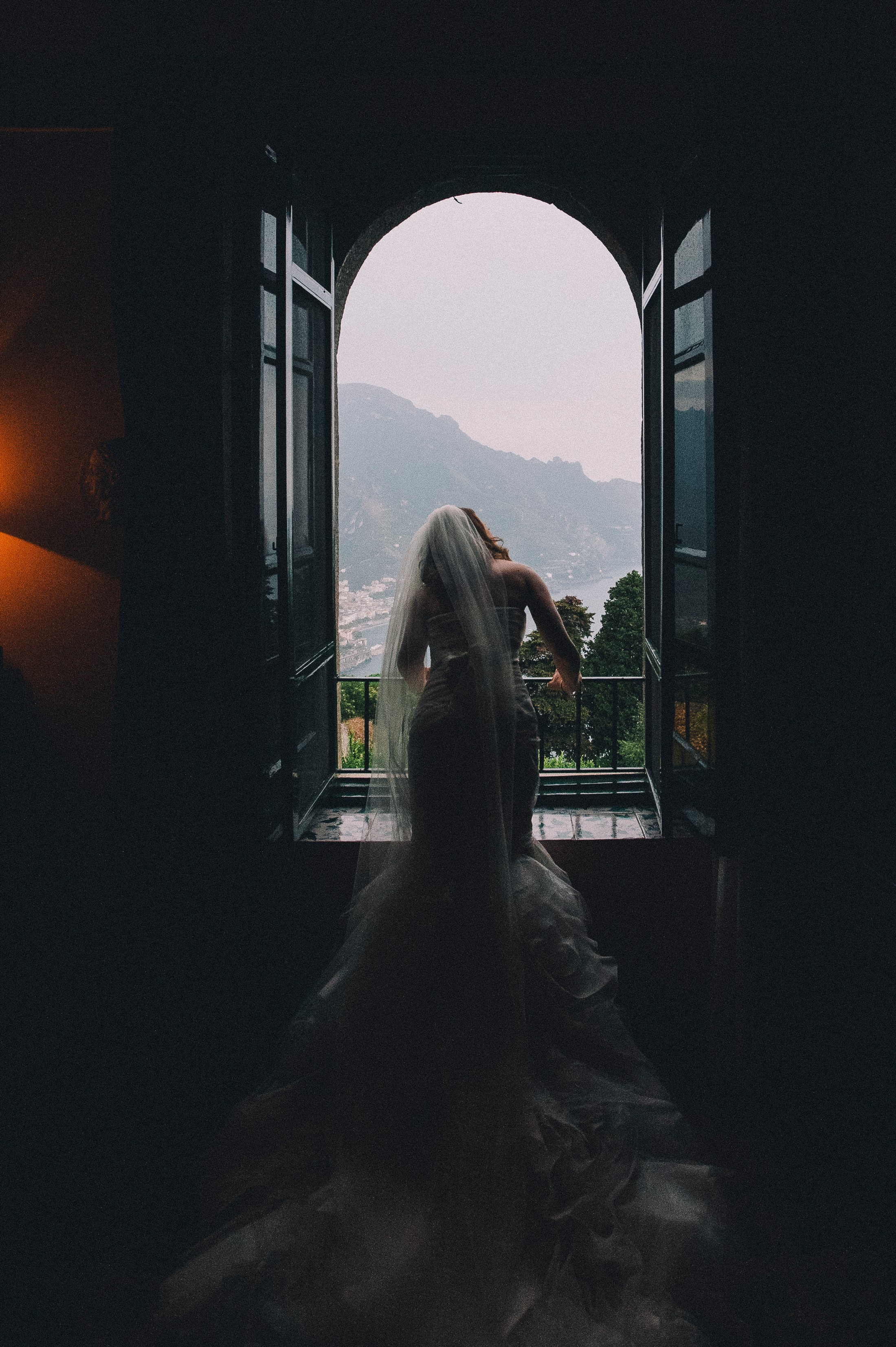 the bride at the window