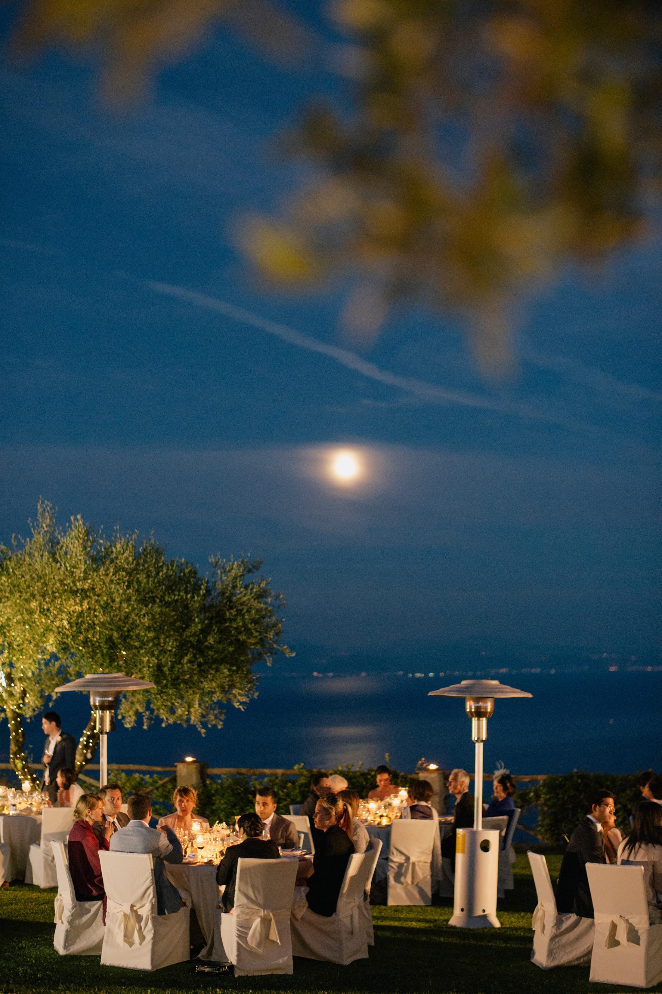 wedding dinner at villa cimbrone