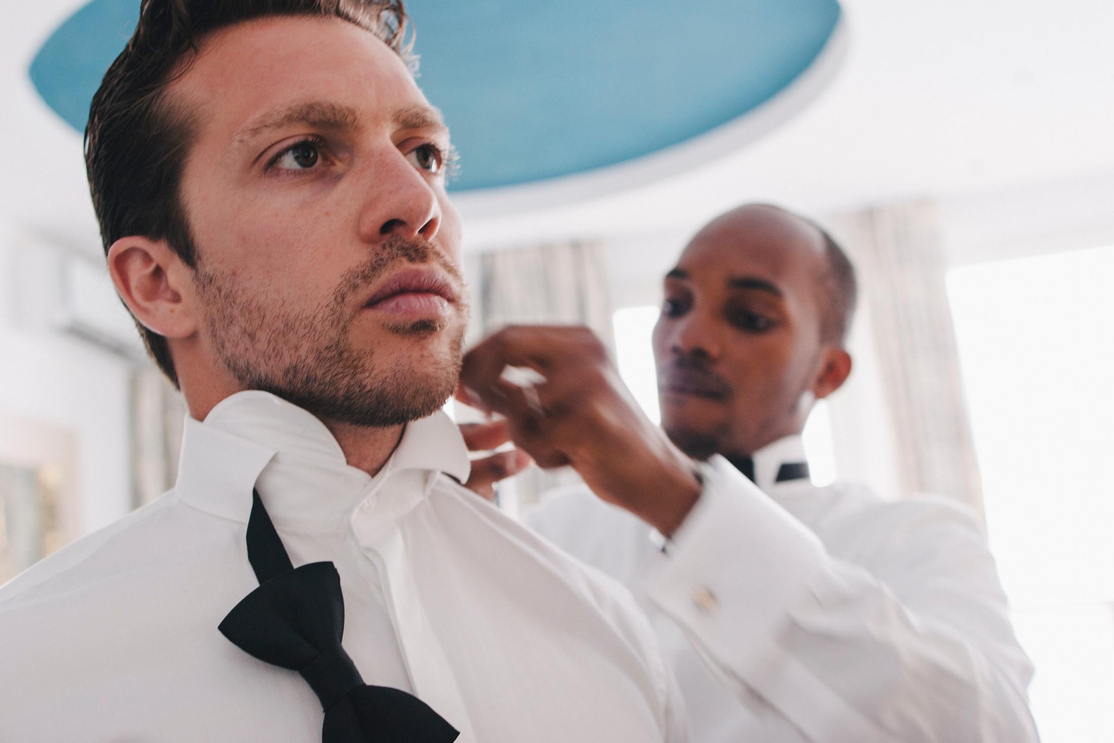 best men getting ready