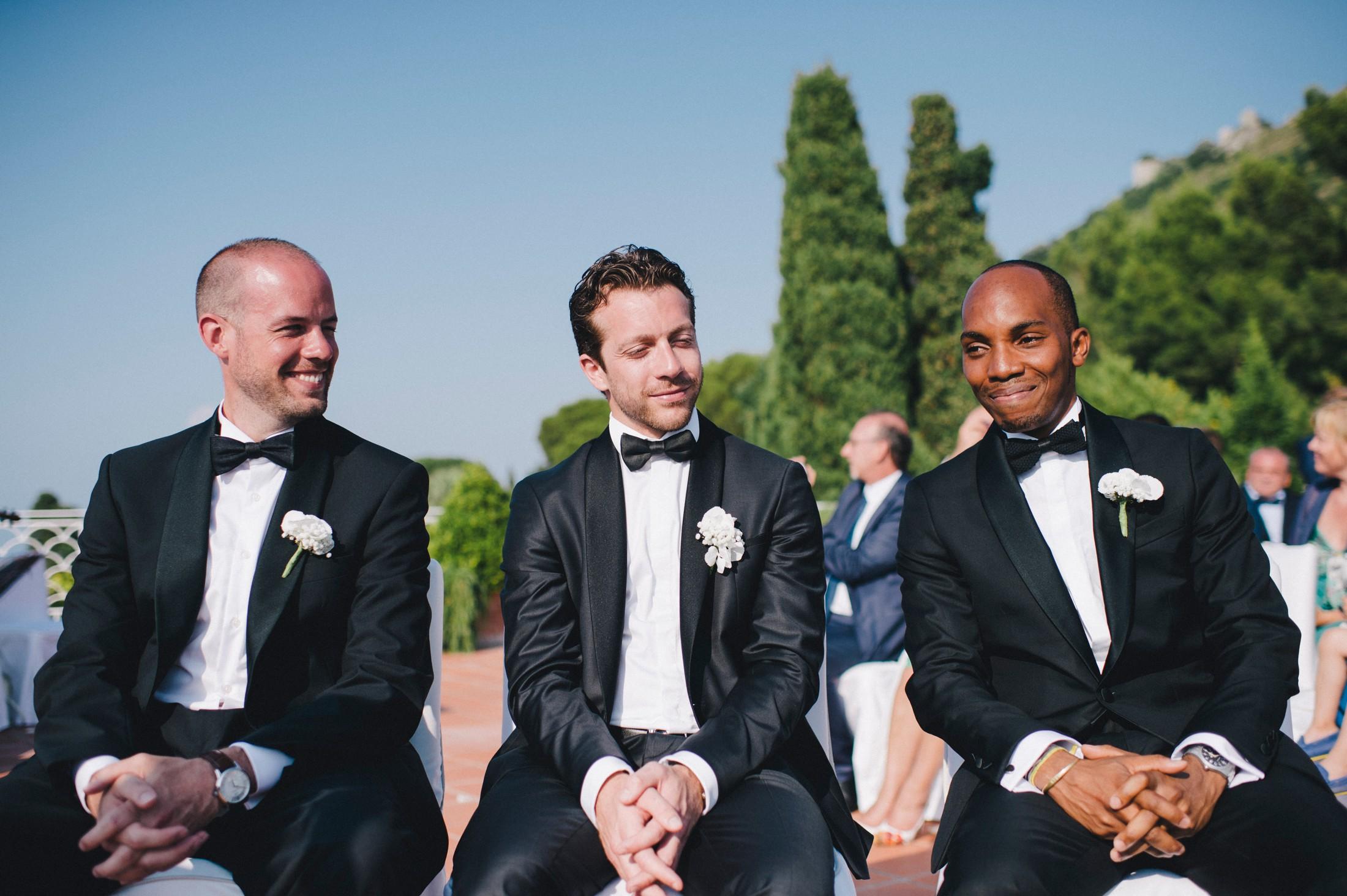 best men during the wedding ceremony