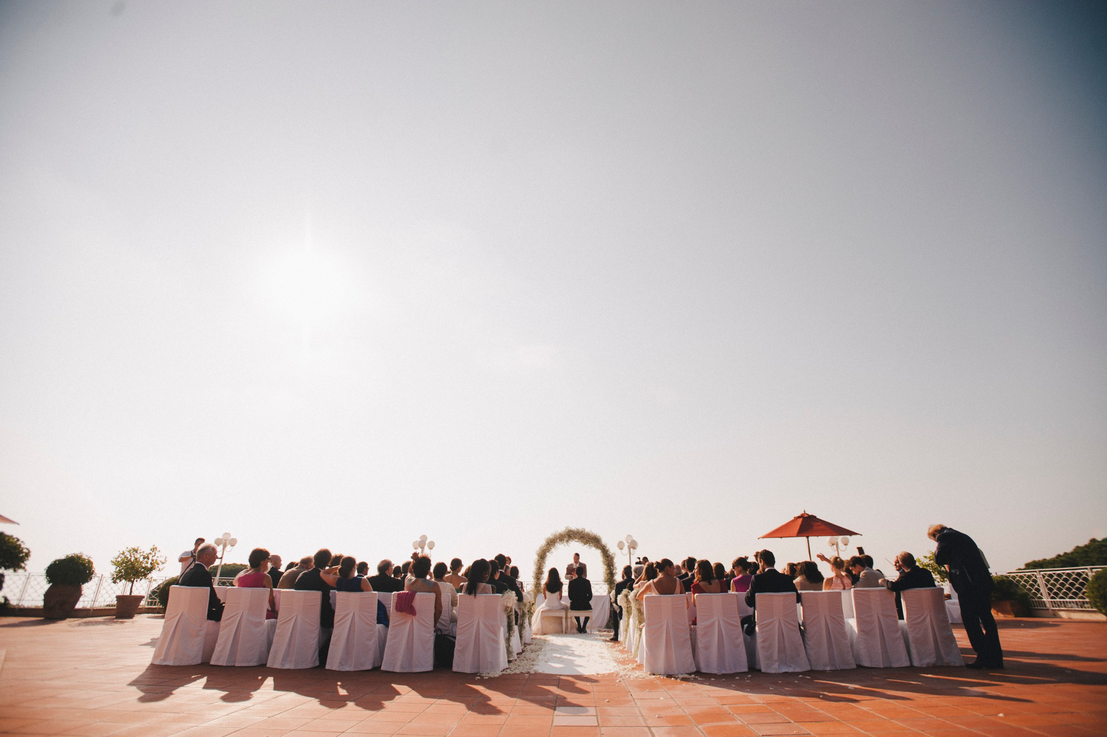 wedding ceremony at capri palace