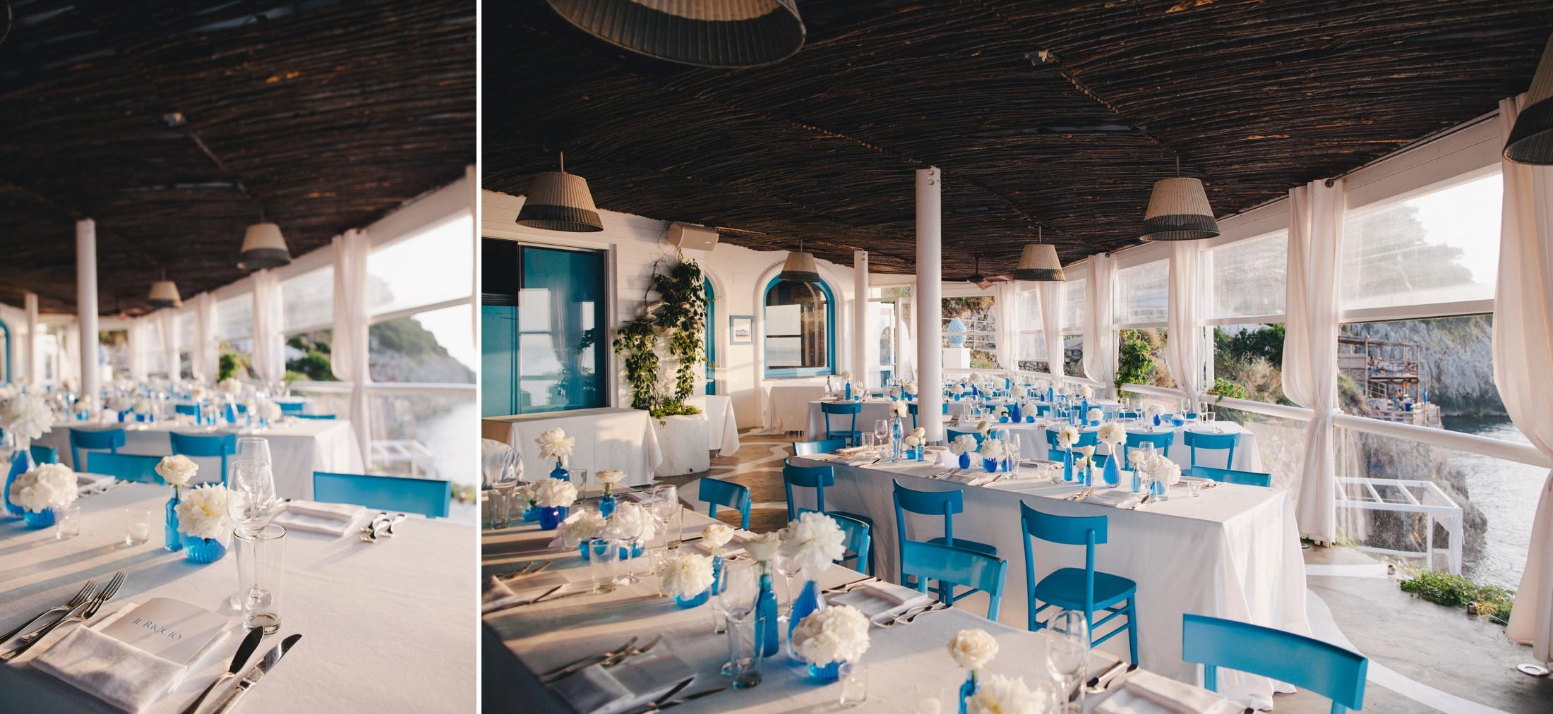 collage wedding table decor