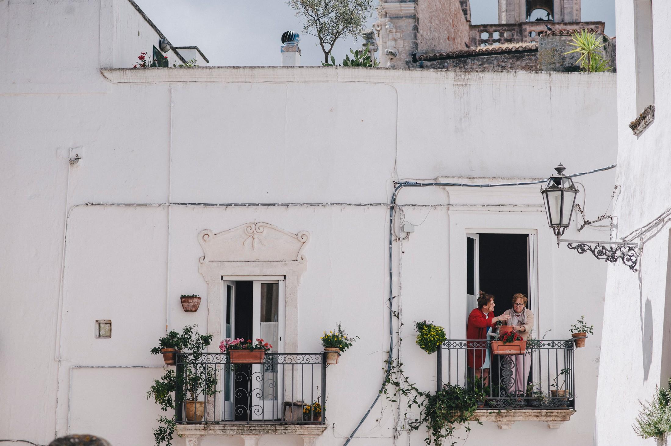a street view in ostuni apulia