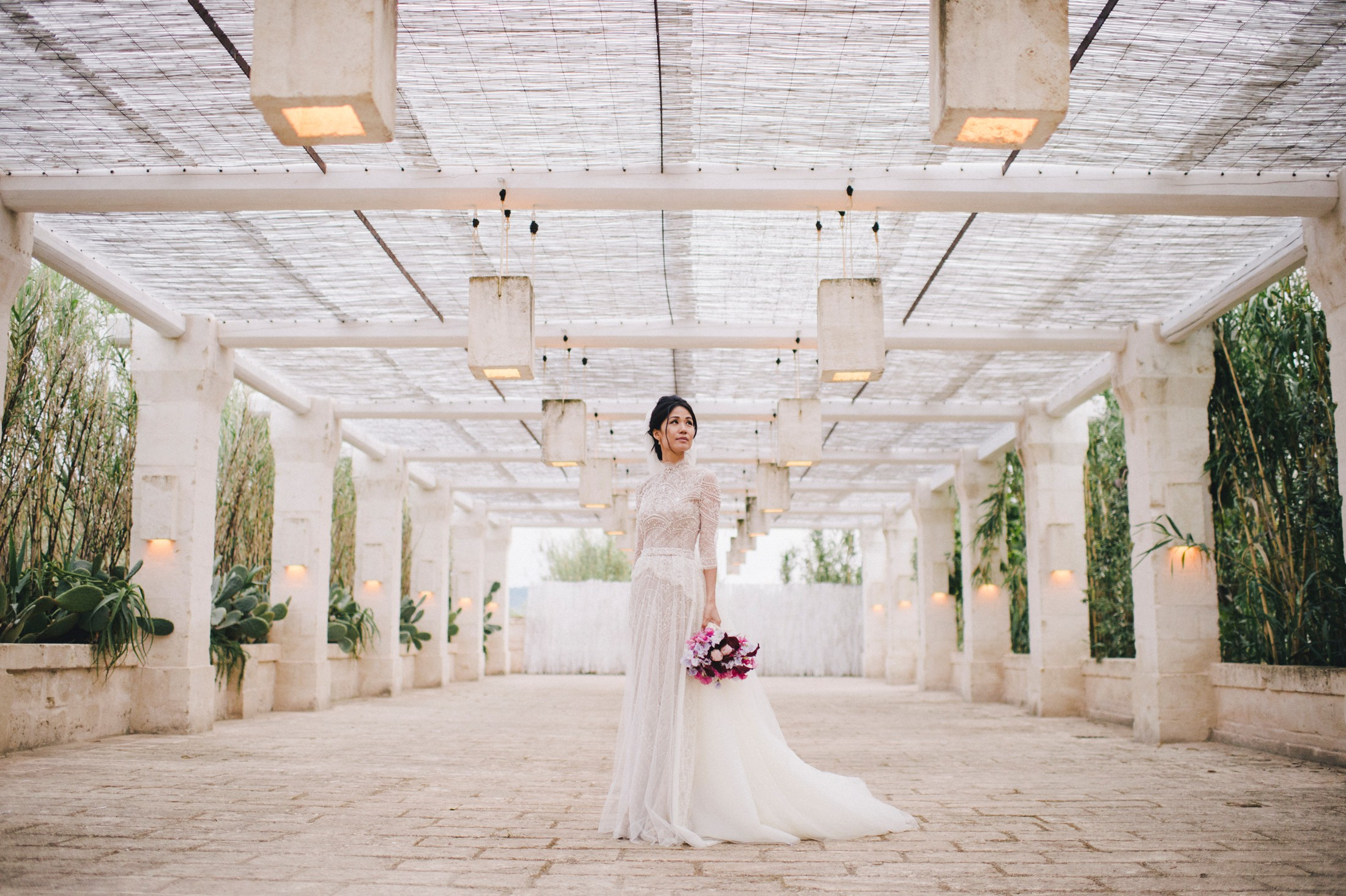 bride's portrait at borgo egnazia