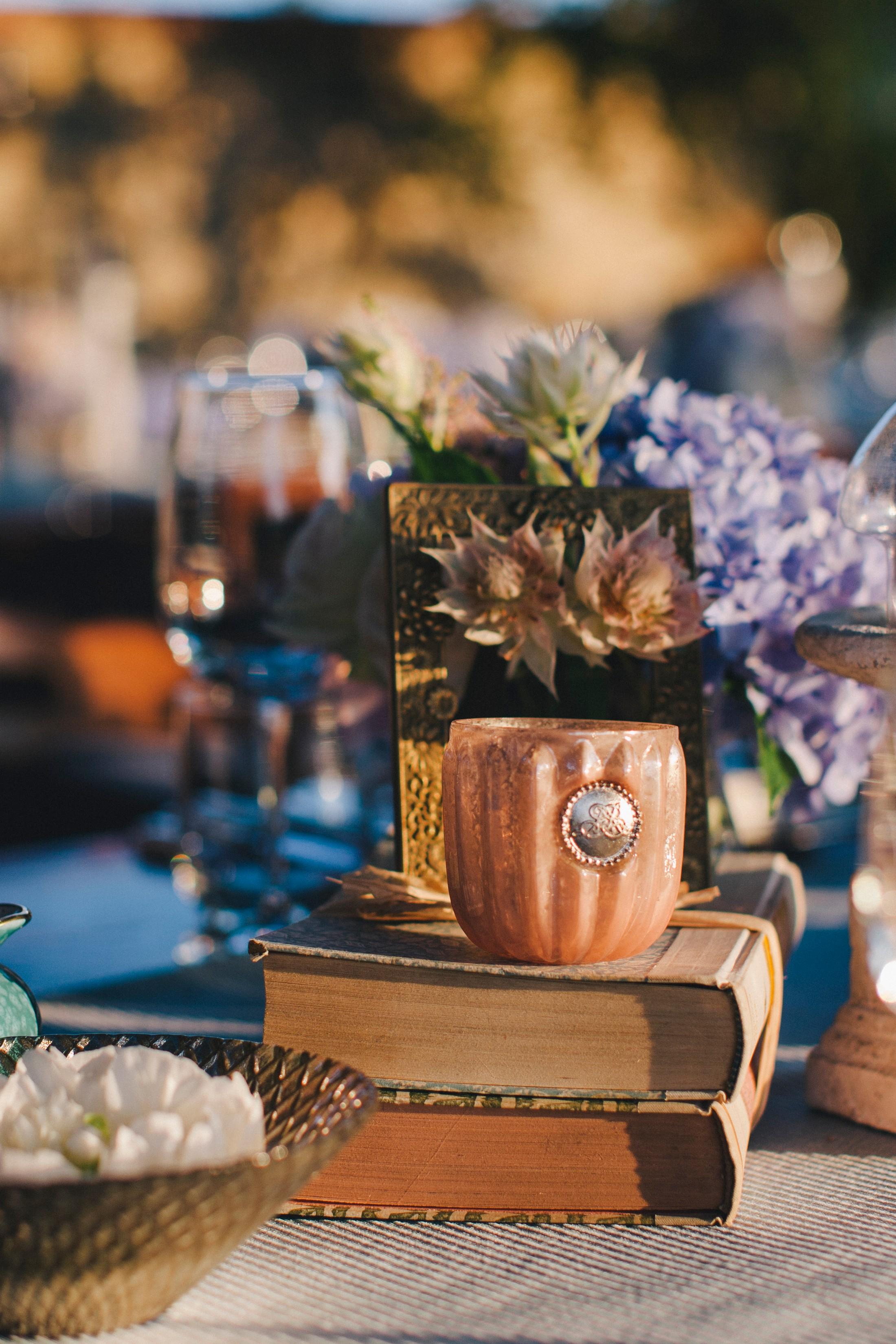 wedding table decor detail